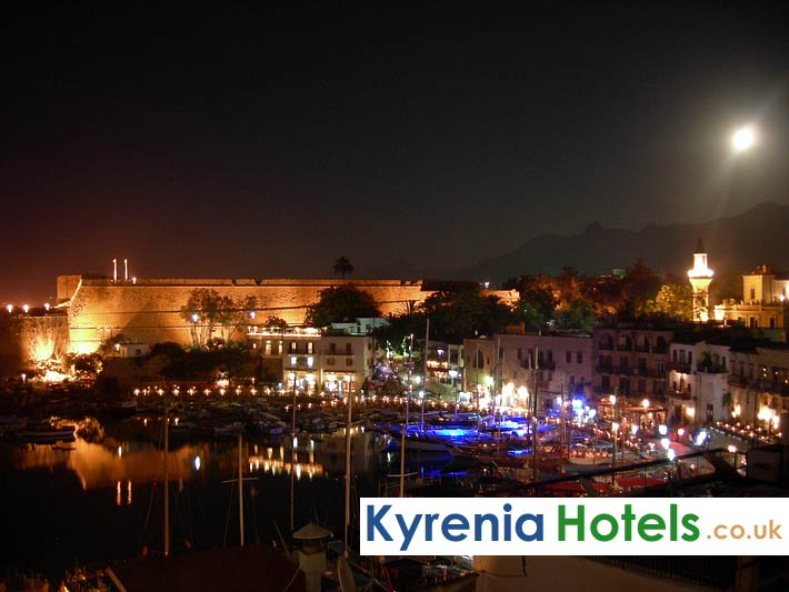 Kyrenia Harbour At Night